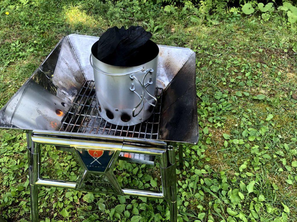 火起こしなら「大型火消し壺・火起こし器セット」が便利で格安!